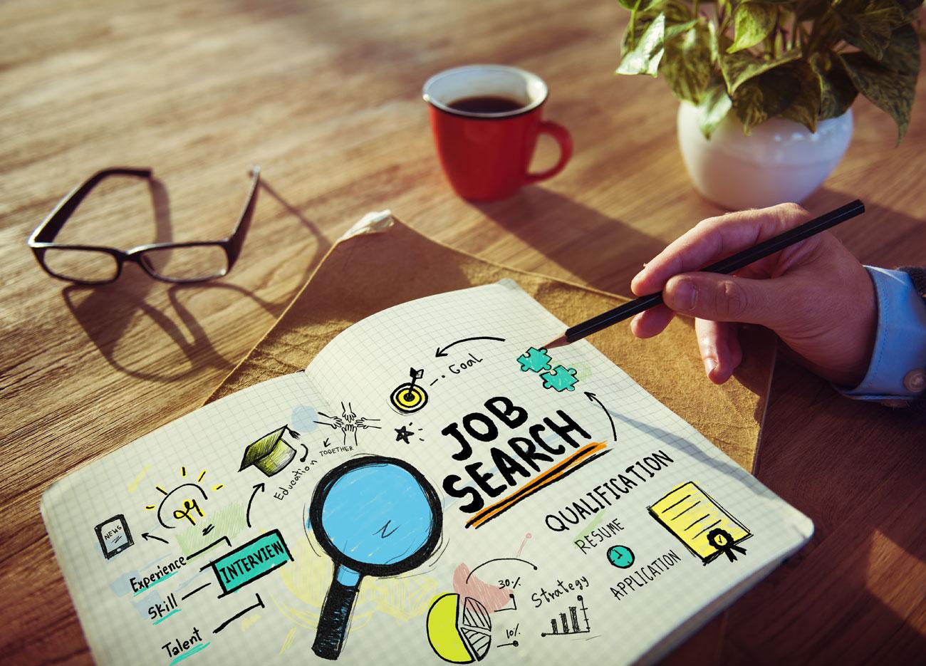 Baan zoeken met iPhone en iPad, afbeelding via Shutterstock.com (shutterstock_241735450).