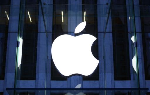 Apple-logo blauw