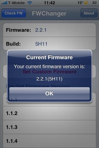 Je firmware-versie is nu aangepast naar 2.2.1