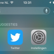 iPhone en iPad doorzoeken met Spotlight