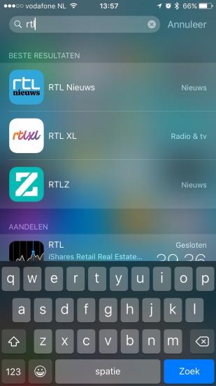 Snel apps openen met Spotlight.