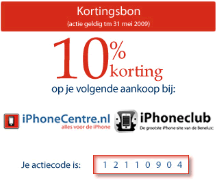 iPhoneclub Accessoireshop kortingscoupon