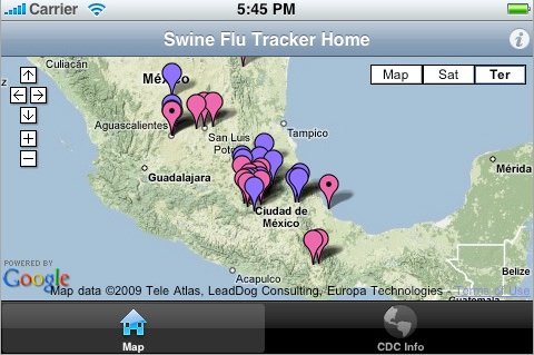 swineflu tracker
