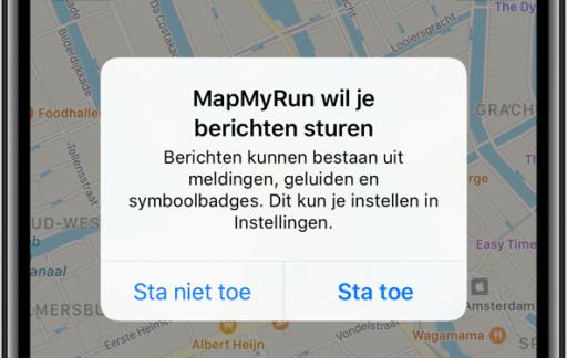 Berichtgeving op de iPhone