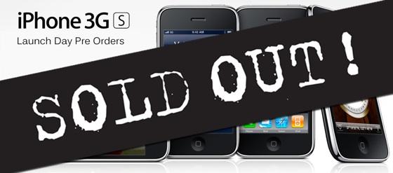 iphone 3g s uitverkocht
