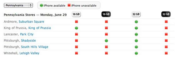 voorraad iphone