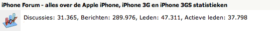 iPhone Forum - Statistieken