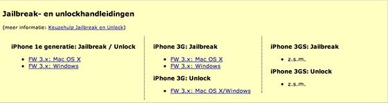 iPhoneclub Handleidingen Jailbreak en Unlock iPhone