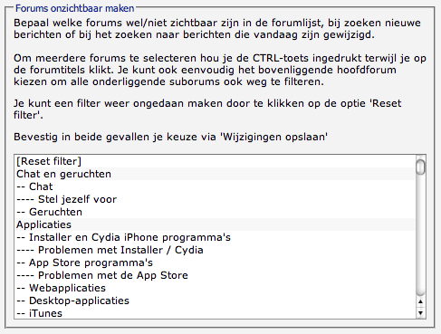 iPhoneclub Forumfilter