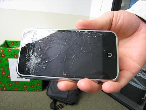 gevallen iPhone