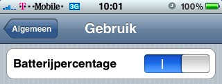 batterijpercentage