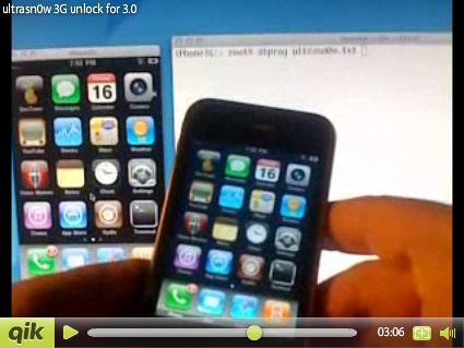 iPhone 3G unlock: ultrasn0w