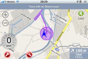 xgps iphone navigatie