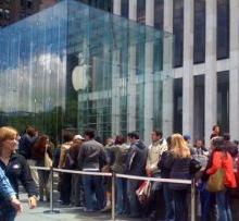 wachtrij apple store