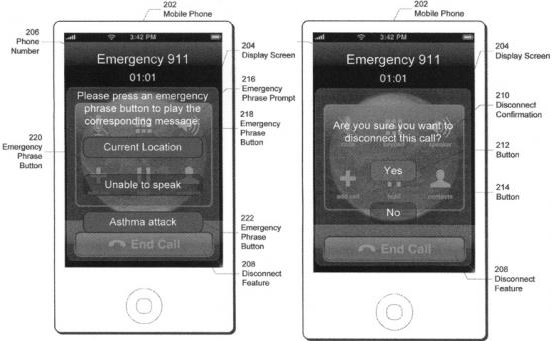 apple patent emergency