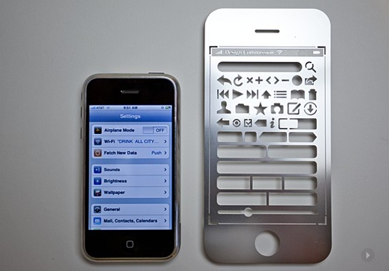 iPhone stencil kit