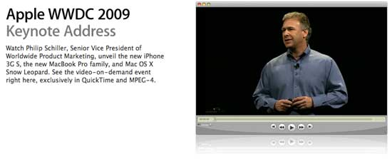 Apple WWDC 2009 Keynote