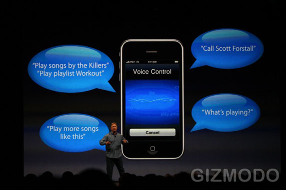 Voice Control op iPhone 3G S