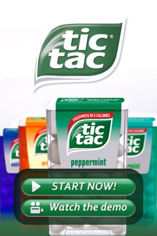tic tac menu