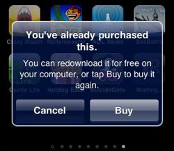 opnieuw betalen voor iPhone apps