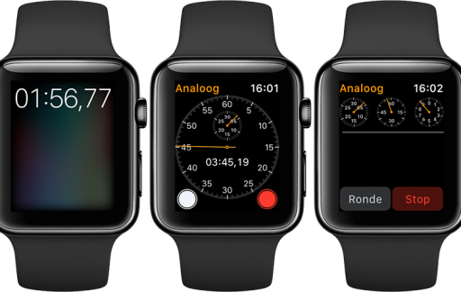 Stopwatch op Apple Watch