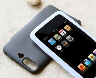 ipod touch met camerahoesje