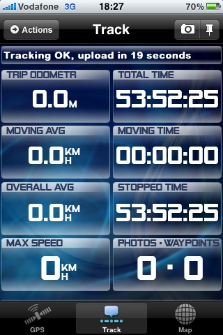 GPSed Track scherm