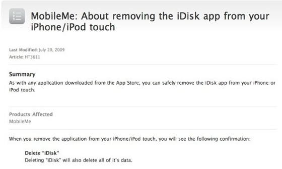 tech note idisk for iphone