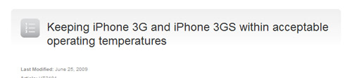 Apple Responds to overheating iPhone 3G/3GS