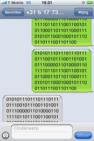 SMS lek iPhone