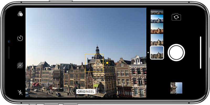 Belichting iPhone-camera en realtime filters