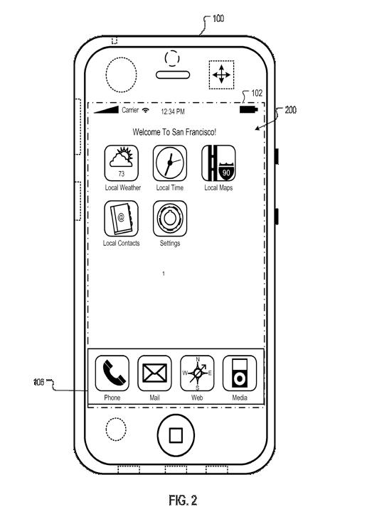 Apple patent uniek home-scherm