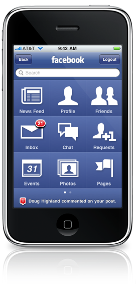 Facebook iPhone application