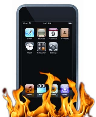 ipod touch fire