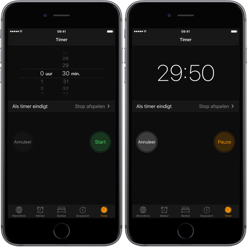 Slaaptimer op iPhone