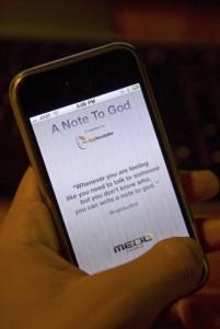 Note to god - verstuur gebeden naar God op je iPhone