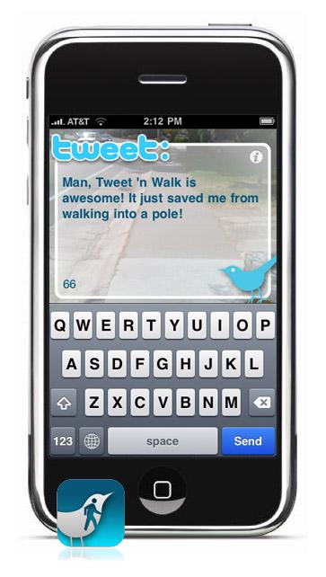 Tweet 'n Walk op de iPhone