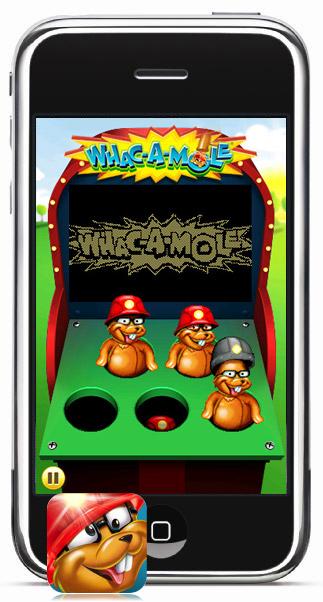 Whac-a-mole op de iPhone
