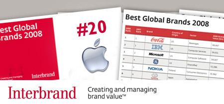 Interbrand - Best Brand 2009 #20 Apple