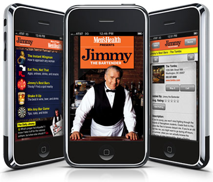 Men's Health - Jimmy The Bartender op de iPhone