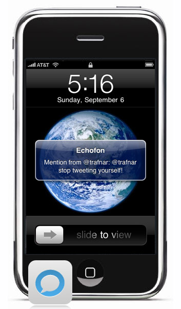 Echofon Push op de iPhone