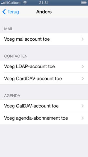 ldap account toevoegen iphone ipad