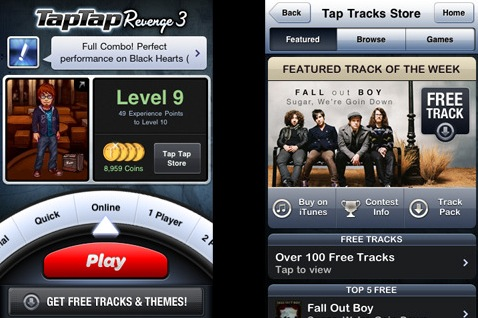 tap tap revenge 3 iphone