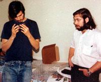 Steve Jobs en Steve Wozniak met blue box