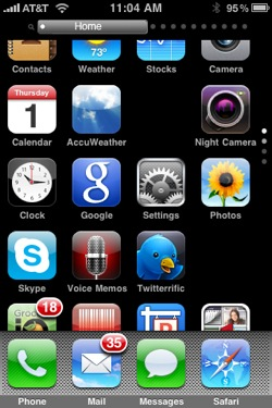 Springboard Scrolling Page