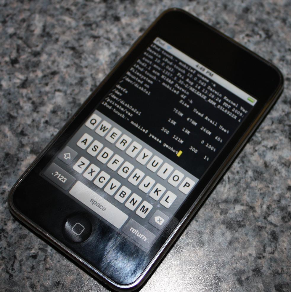 Jailbroken iPod touch 3e generatie