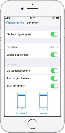 iPhone meldingen werken niet