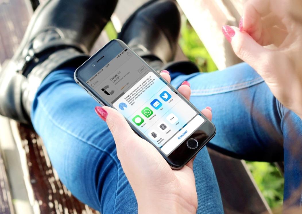Apps delen via de App Store op iPhone.