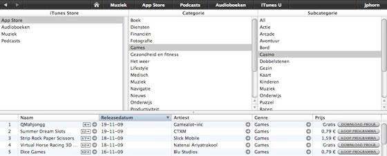 bladeren app-store