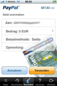 paypal op de iPhone
